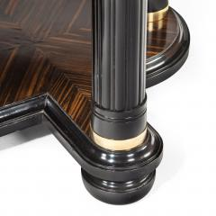 A stylish Art Deco zebra wood centre or dining table - 1205627