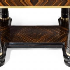 A stylish Art Deco zebra wood centre or dining table - 1205628