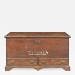 A sulfur inlaid Pennsylvania German chest over drawers - 1211331