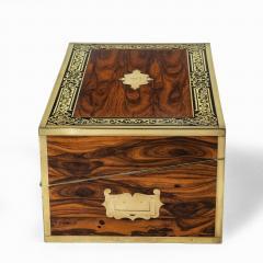 A superb William IV brass inlaid kingwood writing box by Edwards - 1707008