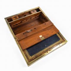 A superb William IV brass inlaid kingwood writing box by Edwards - 1707011