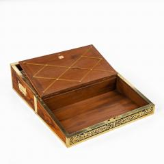 A superb William IV brass inlaid kingwood writing box by Edwards - 1707012