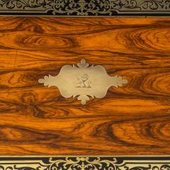A superb William IV brass inlaid kingwood writing box by Edwards - 1707014