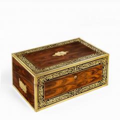 A superb William IV brass inlaid kingwood writing box by Edwards - 1707016