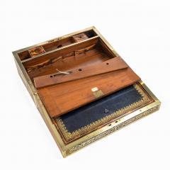 A superb William IV brass inlaid kingwood writing box by Edwards - 1707018
