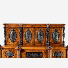 A superb quality burr walnut antique cabinet - 746285