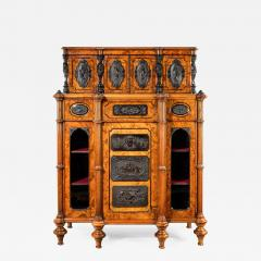 A superb quality burr walnut antique cabinet - 747008