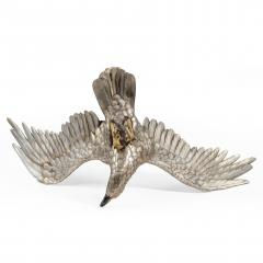 A very large and imposing Meiji period silvered bronze eagle - 1051389