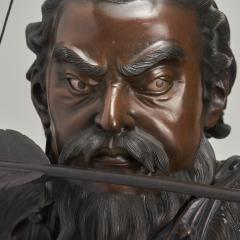 A very large powerful Japanese Meiji Period bronze okimono of Emperor Jimmu - 1439329