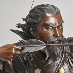 A very large powerful Japanese Meiji Period bronze okimono of Emperor Jimmu - 1439330