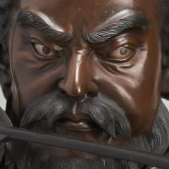 A very large powerful Japanese Meiji Period bronze okimono of Emperor Jimmu - 1439332