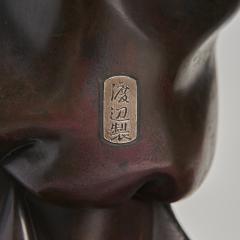 A very large powerful Japanese Meiji Period bronze okimono of Emperor Jimmu - 1439336
