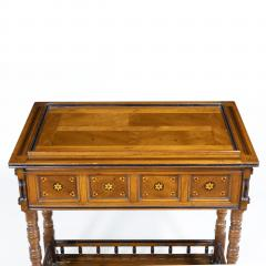 A walnut side table jardini re by Gillows probably after Augustus Pugin - 1053355
