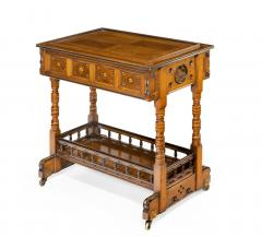 A walnut side table jardini re by Gillows probably after Augustus Pugin - 1053358