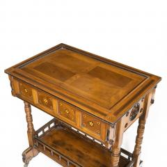 A walnut side table jardini re by Gillows probably after Augustus Pugin - 1053359