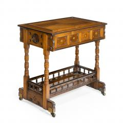 A walnut side table jardini re by Gillows probably after Augustus Pugin - 1053360
