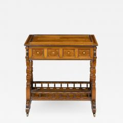 A walnut side table jardini re by Gillows probably after Augustus Pugin - 1054349