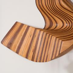 ABSTRACT WOOD WALL MOUNTED SCULPTURE - 1043771