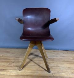 ADAM Stegner 1950s Adam Stegner Pagwood Swivel Chair for Pagholz Fl totto Germany - 1363962