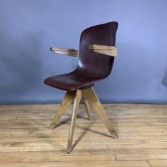 ADAM Stegner 1950s Adam Stegner Pagwood Swivel Chair for Pagholz Fl totto Germany - 1363964