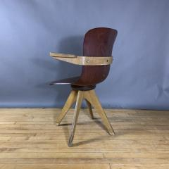 ADAM Stegner 1950s Adam Stegner Pagwood Swivel Chair for Pagholz Fl totto Germany - 1363965