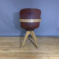 ADAM Stegner 1950s Adam Stegner Pagwood Swivel Chair for Pagholz Fl totto Germany - 1363968