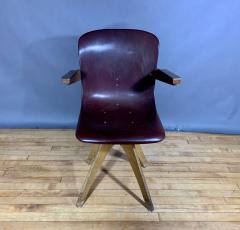 ADAM Stegner 1950s Adam Stegner Pagwood Swivel Chair for Pagholz Fl totto Germany - 1363972