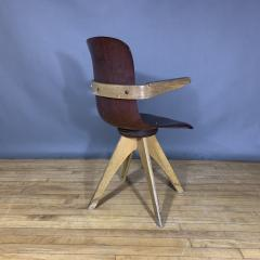 ADAM Stegner 1950s Adam Stegner Pagwood Swivel Chair for Pagholz Fl totto Germany - 1363974