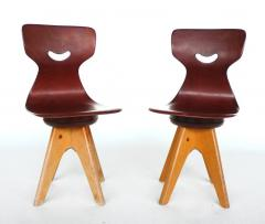 ADAM Stegner Pair of Modernist Bentwood Adam Stegner Childrens Chairs Pagho 1960s - 303117