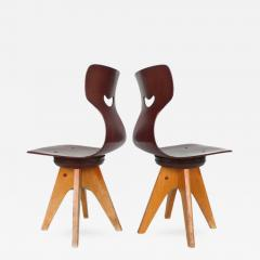 ADAM Stegner Pair of Modernist Bentwood Adam Stegner Childrens Chairs Pagho 1960s - 303563