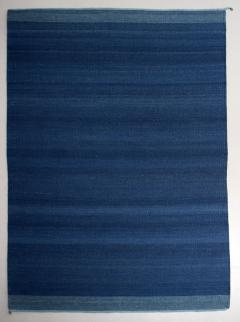 ADN Studio Trine Ellitsgaard handmade Saasil Rug pigmented with natural indigo dye - 1428534