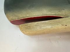 ADORABLE 1940s ENAMELED METAL THREE DIMENSIONAL WHALE - 1951501