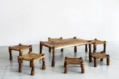 AFRICAN LEATHER STOOLS - 1398053