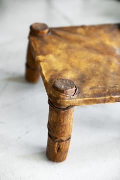 AFRICAN LEATHER STOOLS - 1398060