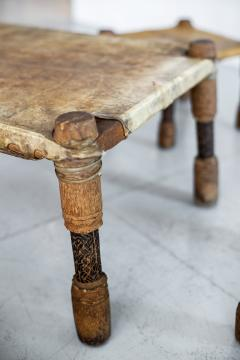 AFRICAN LEATHER STOOLS - 1398062