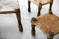 AFRICAN LEATHER STOOLS - 1398068