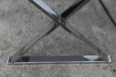 AMK for Patricia Kagan Lucite Object Dart Lacquer and Chrome X Base Desk by AMK for Patricia Kagan - 613245