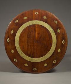 AN UNUSUAL CUBAN MAHOGANY AND BRASS CIRCULAR CENTER TABLE - 1305243