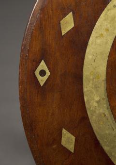AN UNUSUAL CUBAN MAHOGANY AND BRASS CIRCULAR CENTER TABLE - 1305248