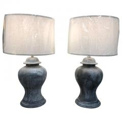 ANTIQUE ENGLISH METAL URN LAMPS A PAIR - 1046725