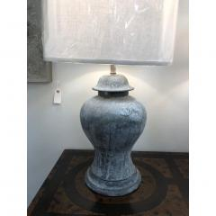 ANTIQUE ENGLISH METAL URN LAMPS A PAIR - 1046726