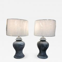 ANTIQUE ENGLISH METAL URN LAMPS A PAIR - 1048580