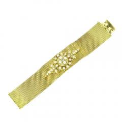 ANTIQUE GOLD BRACELET WITH PEARL AND DIAMONDS - 1943966