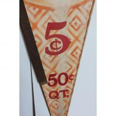 ANTIQUE HAND PAINTED DOUBLE SIDED ICE CREAM SIGN - 1046668