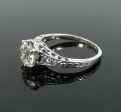 ANTIQUE OLD EUROPEAN CUT DIAMOND ENGAGEMENT RING 1 25 CTS - 1104853