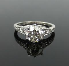 ANTIQUE OLD EUROPEAN CUT DIAMOND ENGAGEMENT RING 1 25 CTS - 1104856