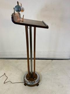 ART DECO COPPER AND CHROME ILLUMINATED RESERVATION STAND - 1807706