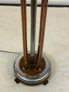 ART DECO COPPER AND CHROME ILLUMINATED RESERVATION STAND - 1807715