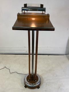 ART DECO COPPER AND CHROME ILLUMINATED RESERVATION STAND - 1807723