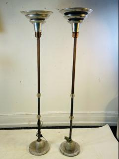 ART DECO PAIR OF TRIPLE TIER TORCHIERE LAMPS - 1804605